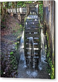 Acrylic Print featuring the photograph Leaky Mill Wheel by Alan Raasch