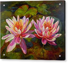 Acrylic Print featuring the painting Lean On Me by Chris Brandley