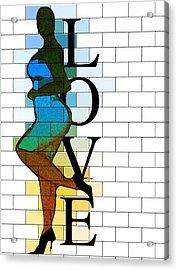 Leanin' On Love Acrylic Print by Romaine Head