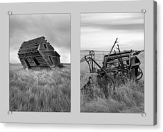 Leaning Diptych Acrylic Print by Leland D Howard