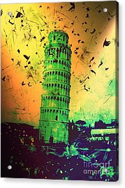 Leaning Tower Of Pisa 32 Acrylic Print