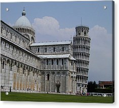 Leaning Tower Of Pisa Acrylic Print by Joseph R Luciano