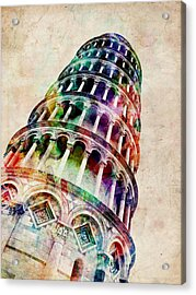 Leaning Tower Of Pisa Acrylic Print by Michael Tompsett