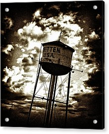 Leaning Tower Of Texas Acrylic Print by Dennis Sullivan