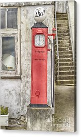 Leaning With Time Acrylic Print by Linsey Williams