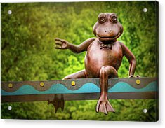 Leaping Frog In Boston  Acrylic Print by Carol Japp