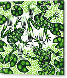 Leaping Frogs Acrylic Print by Nat Morley