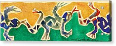 Leaping Lizards Acrylic Print by Annie Alexander