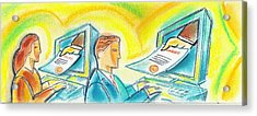 Learning And Getting Diploma Online Acrylic Print
