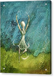 Learning To Dance In The Rain  Acrylic Print by Charlotte Smith
