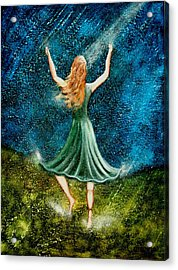 Learning To Dance In The Rain II Acrylic Print by Charlotte Smith