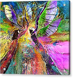 Learning To Fly Acrylic Print by Miki De Goodaboom