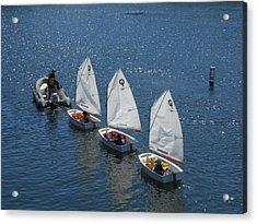 Learning To Sail Acrylic Print
