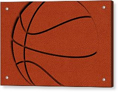 Leather Basketball Art Acrylic Print by Joe Hamilton