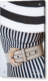 Acrylic Print featuring the photograph Leather Belt With A Buckle  by Andrey  Godyaykin