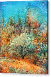 Leave It To The Trees To Dance In The Cold Acrylic Print by Tara Turner