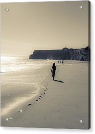 Leave Nothing But Footprints Acrylic Print by Alex Lapidus