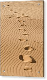 Leave Only Footprints Acrylic Print by Heather Applegate