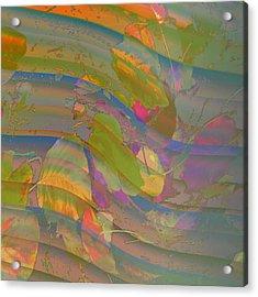 Acrylic Print featuring the digital art Leave Print by Visual Artist Frank Bonilla