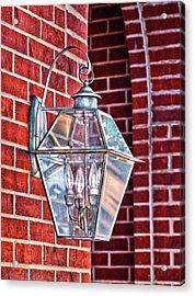 Leave The Light On Effie Acrylic Print by Brenda Bryant