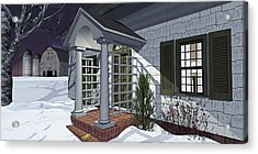 Acrylic Print featuring the photograph Leave The Porch Light On by Peter J Sucy