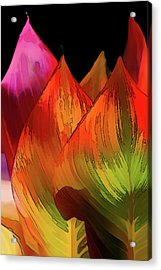 Leaves Aflame Acrylic Print