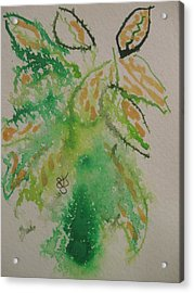 Acrylic Print featuring the drawing Leaves by AJ Brown