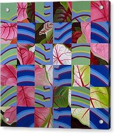 Leaves And Bones Acrylic Print by Sunhee Kim Jung