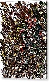 Leaves Hidden Everywhere Acrylic Print by Garima Srivastava