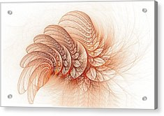 Leaves Of The Fractal Ether-2 Acrylic Print