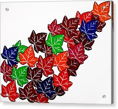 Leaves Acrylic Print by Oliver Johnston