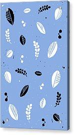 Leaves - Peri B/w Acrylic Print