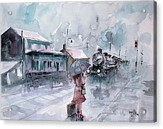 Acrylic Print featuring the painting Leaving... by Faruk Koksal