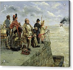 Leaving For Jersey  Acrylic Print by Guillaume Romain Fouace