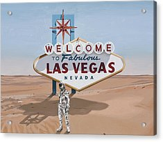 Acrylic Print featuring the painting Leaving Las Vegas by Scott Listfield