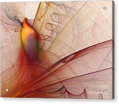 Leaving Marks Abstract Art Acrylic Print