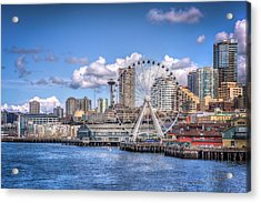 Leaving Seattle Acrylic Print by Spencer McDonald