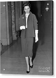 Leaving Supreme Court, Lisa Ferraday. Acrylic Print by Anthony Calvacca