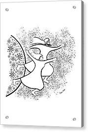 Leaving The Garden Acrylic Print by Chana Helen Rosenberg