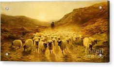 Leaving The Hills, 1874 Acrylic Print by Joseph Farquharson