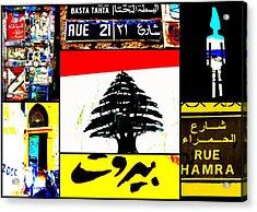 Lebanon Famous Icons Acrylic Print