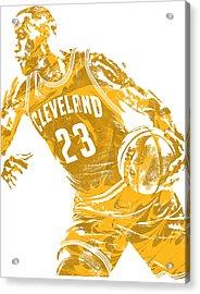 Lebron James Cleveland Cavaliers Pixel Art 20 Acrylic Print