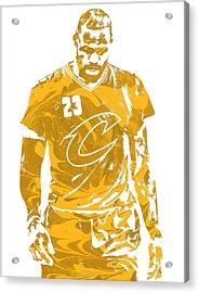 Lebron James Cleveland Cavaliers Pixel Art 21 Acrylic Print