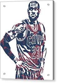 Lebron James Cleveland Cavaliers Pixel Art 25 Acrylic Print