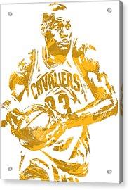 Lebron James Cleveland Cavaliers Pixel Art 6 Acrylic Print