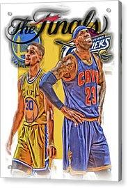 Lebron James Stephen Curry The Finals Acrylic Print by Joe Hamilton