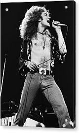 Led Zeppelin Robert Plant 1975 Acrylic Print by Chris Walter