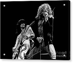Led Zeppelin Robert Plant Jimmy Page Collection Acrylic Print by Marvin Blaine