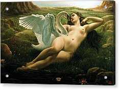 Leda And The Swan - Sensual Acrylic Print by Giovanni Rapiti
