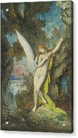 Leda And The Swan Acrylic Print by Gustave Moreau